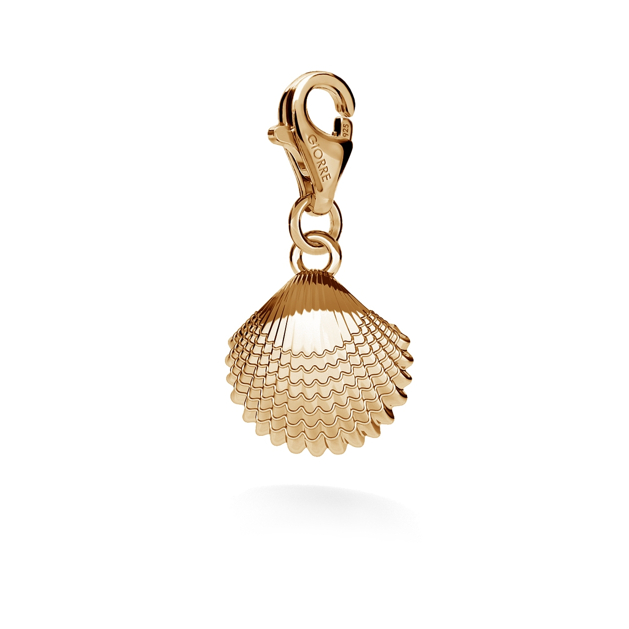 CHARM 88, SMALL SEA SHELL, SILVER 925,  RHODIUM OR GOLD PLATED