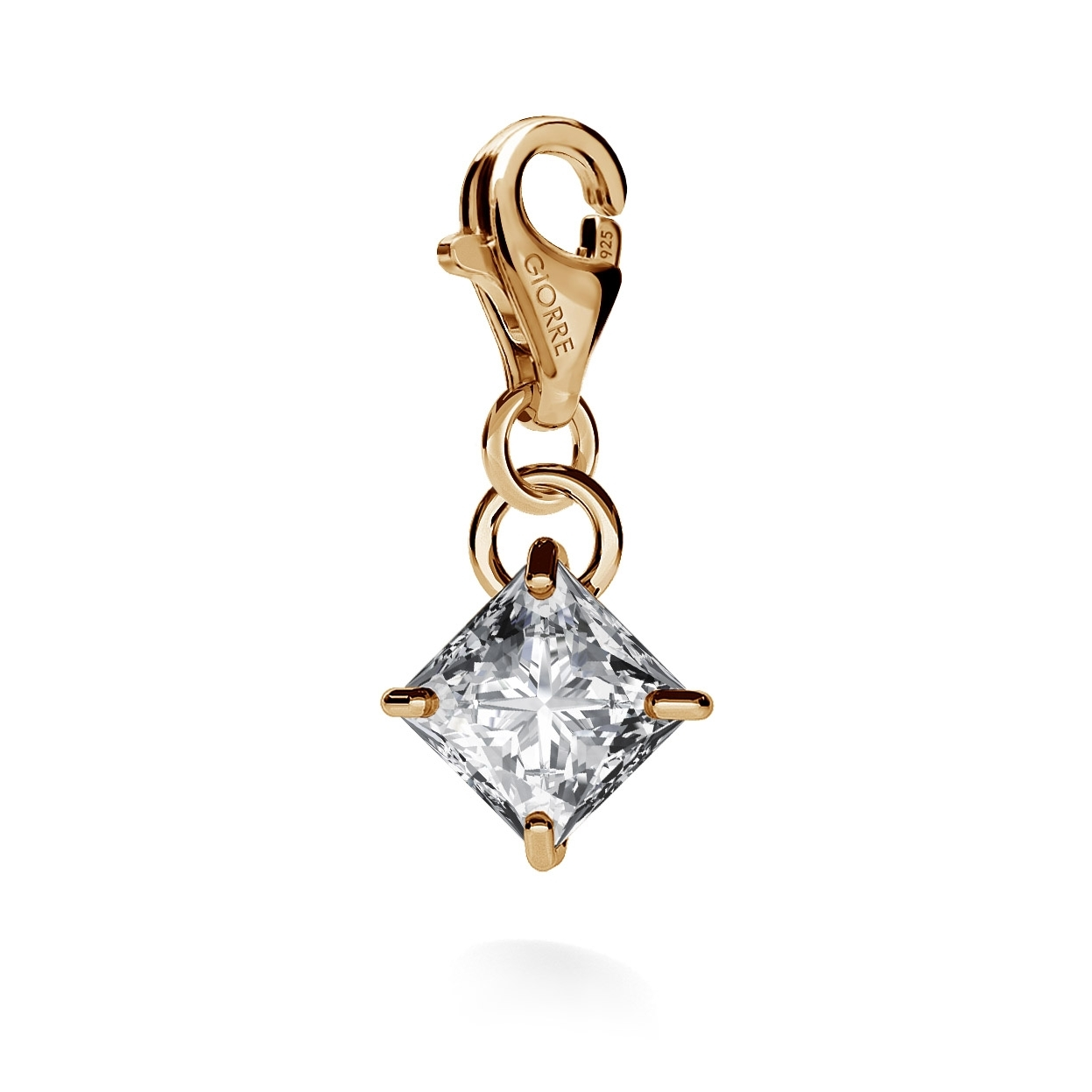 CHARM 97, SWAROVSKI ZIRCONIA, RHODIUM OR GOLD PLATED
