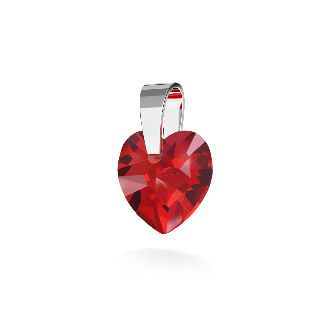PENDANT 198, SWAROVSKI HEART 10MM