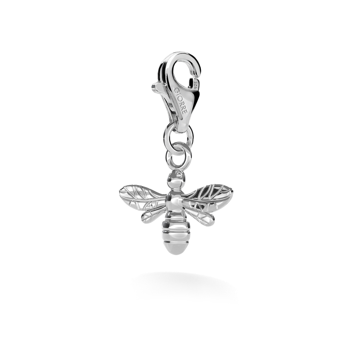 CHARM 15, BEE, SILVER 925,  RHODIUM OR GOLD PLATED