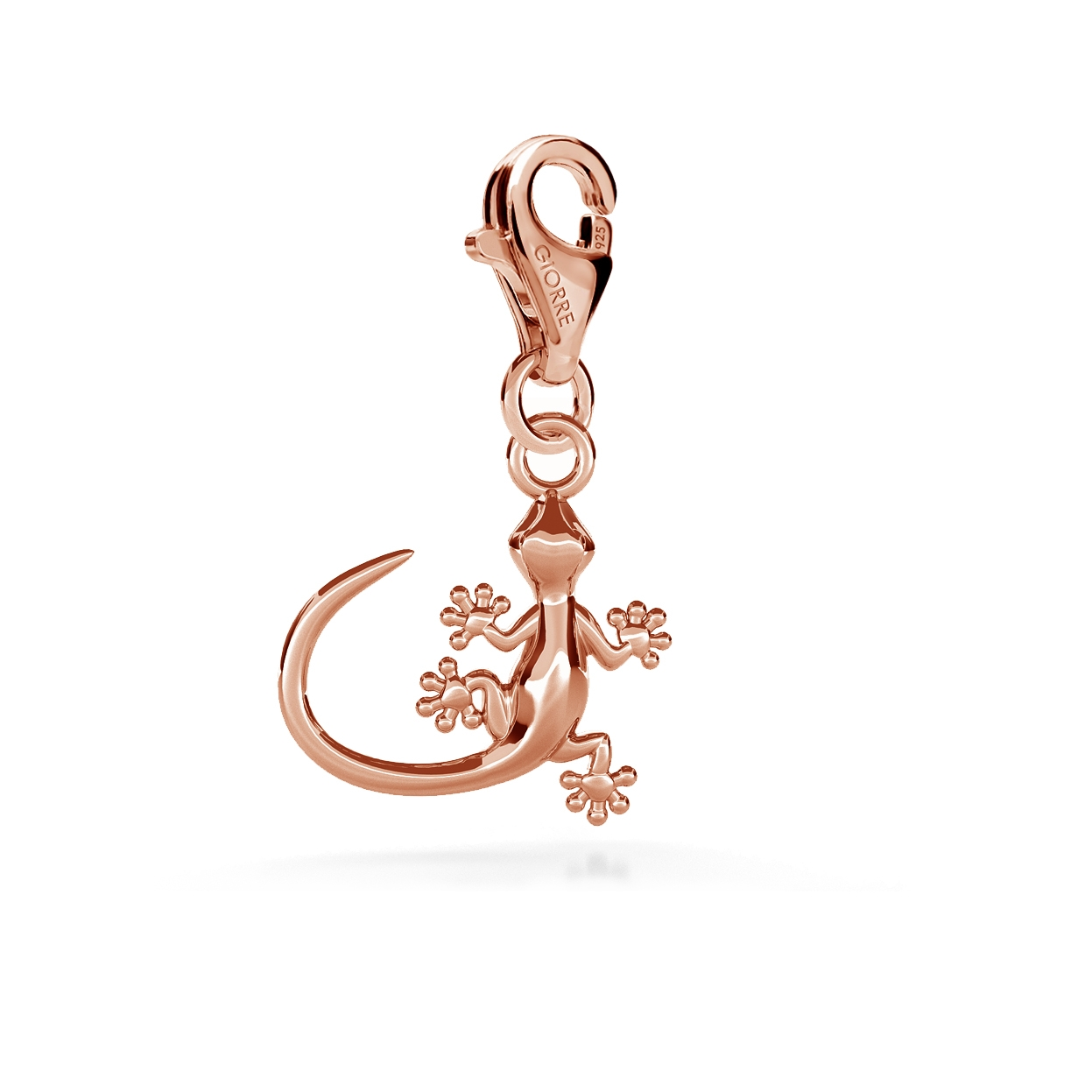 CHARM 21, LIZARD, SILVER 925,  RHODIUM OR GOLD PLATED