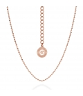 SILVER NECKLACE WITH BALLS 45-55 CM, GOLD PLATED (PINK GOLD)
