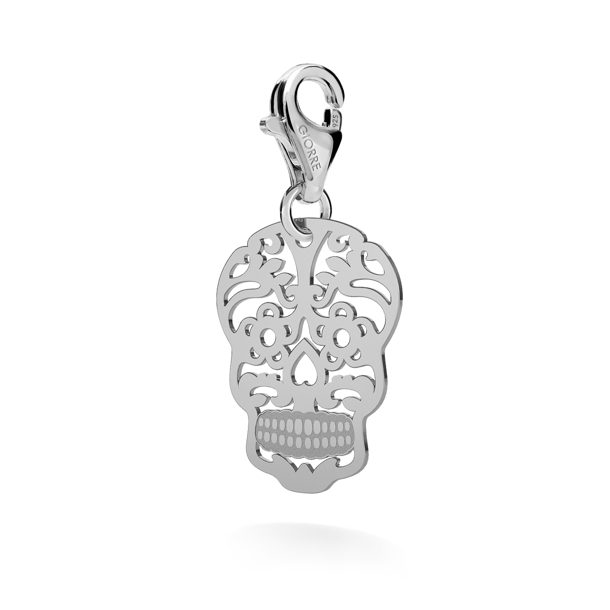 CHARM 29, SUGAR SKULL, SILVER 925,  RHODIUM OR GOLD PLATED
