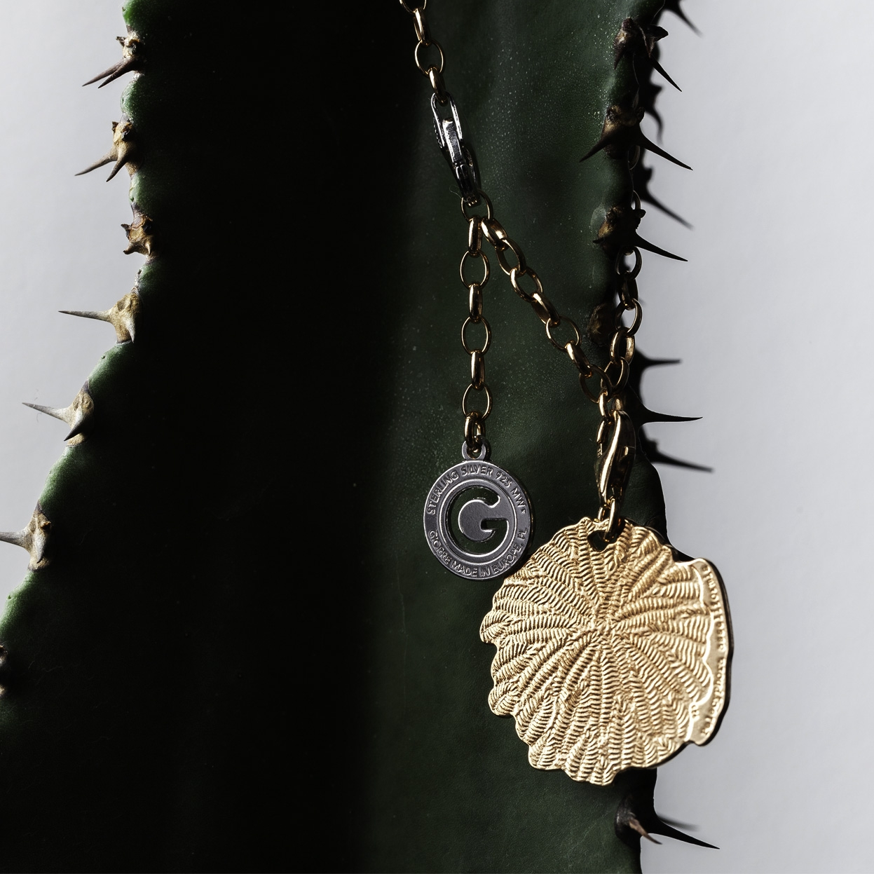 CHARMS 11, MEXICAN CACTUS,  STERLING SILVER RHODIUM OR 24K GOLD PLATED