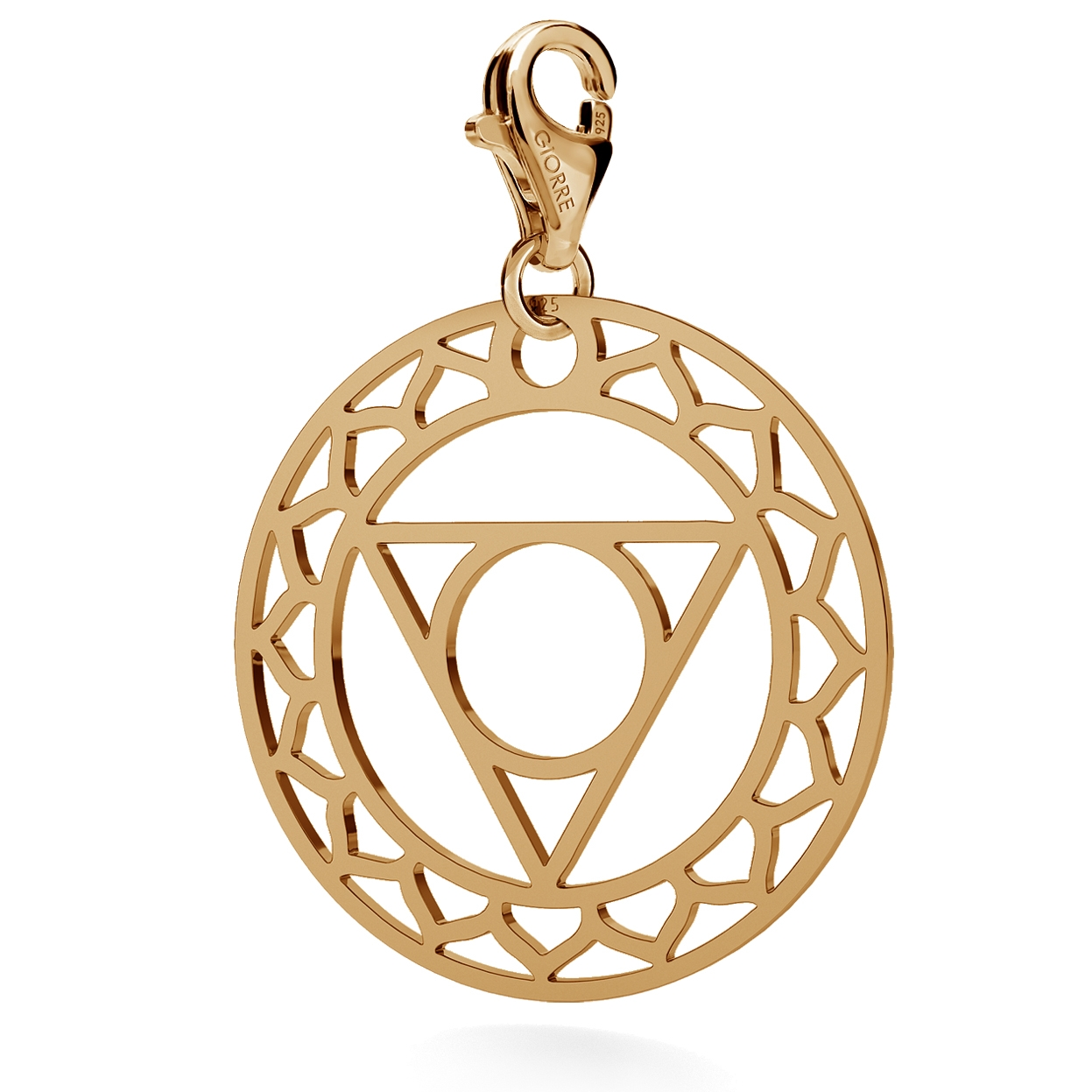 CHARM 70, THROAT CHAKRA, STERLING SILVER (925) RHODIUM OR GOLD PLATED