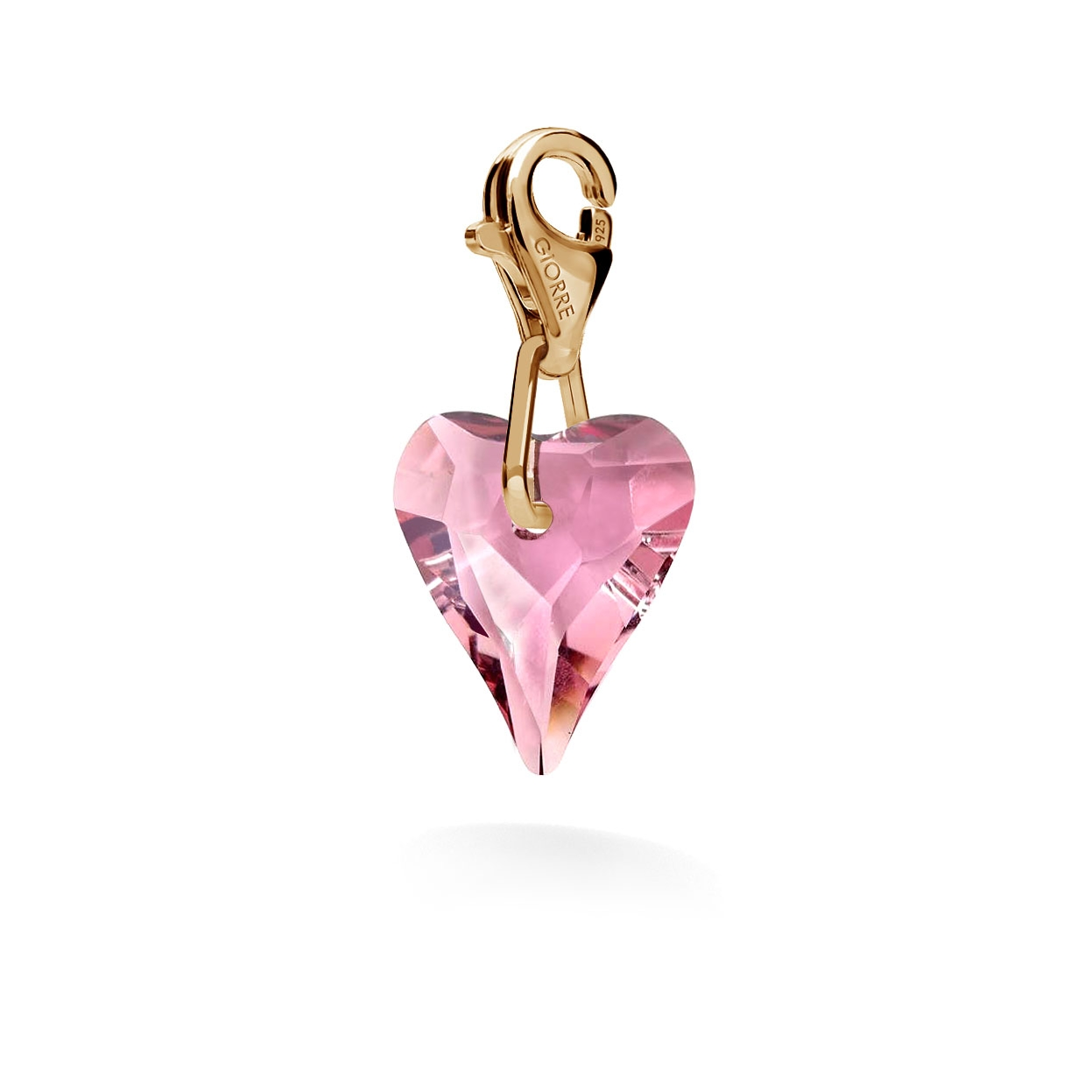 CHARM 66, SWAROVSKI 6240 MM 12, STERLING SILVER (925) RHODIUM OR GOLD PLATED